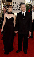 David Lynch with Mary Sweeney at the oldeb Globe Awards 2001