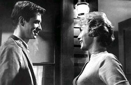 Anthony Perkins and Vera Miles in Psycho